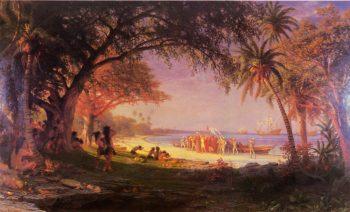 The Landing of Columbus | Albert Bierstadt | oil painting