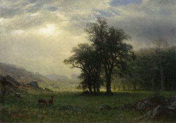 The Open Glen | Albert Bierstadt | oil painting