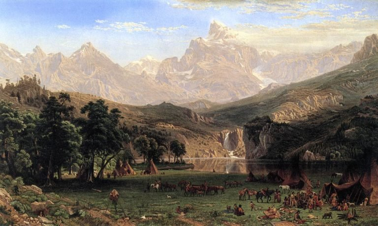 The Rocky Mountains Lander's Peak | Albert Bierstadt | oil painting