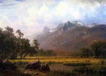 The Sierras near Lake Tahoe California | Albert Bierstadt | oil painting