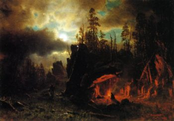 The Trapper's Camp | Albert Bierstadt | oil painting