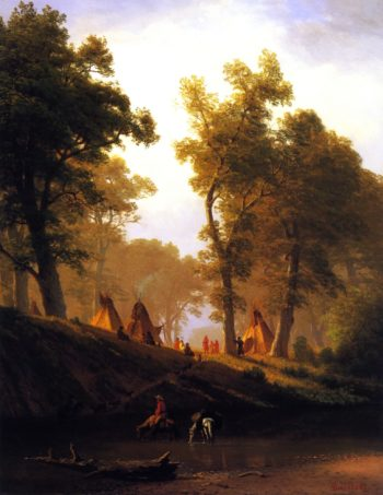 The Wolf River Kansas | Albert Bierstadt | oil painting