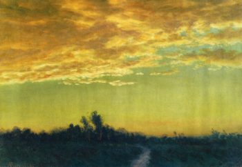 Twilight over the Path | Albert Bierstadt | oil painting