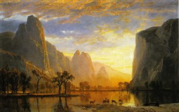 Valley of the Yosemite | Albert Bierstadt | oil painting