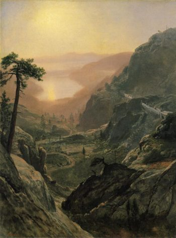 View of Donner Lake California | Albert Bierstadt | oil painting