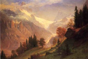 View of the Grindelwald | Albert Bierstadt | oil painting