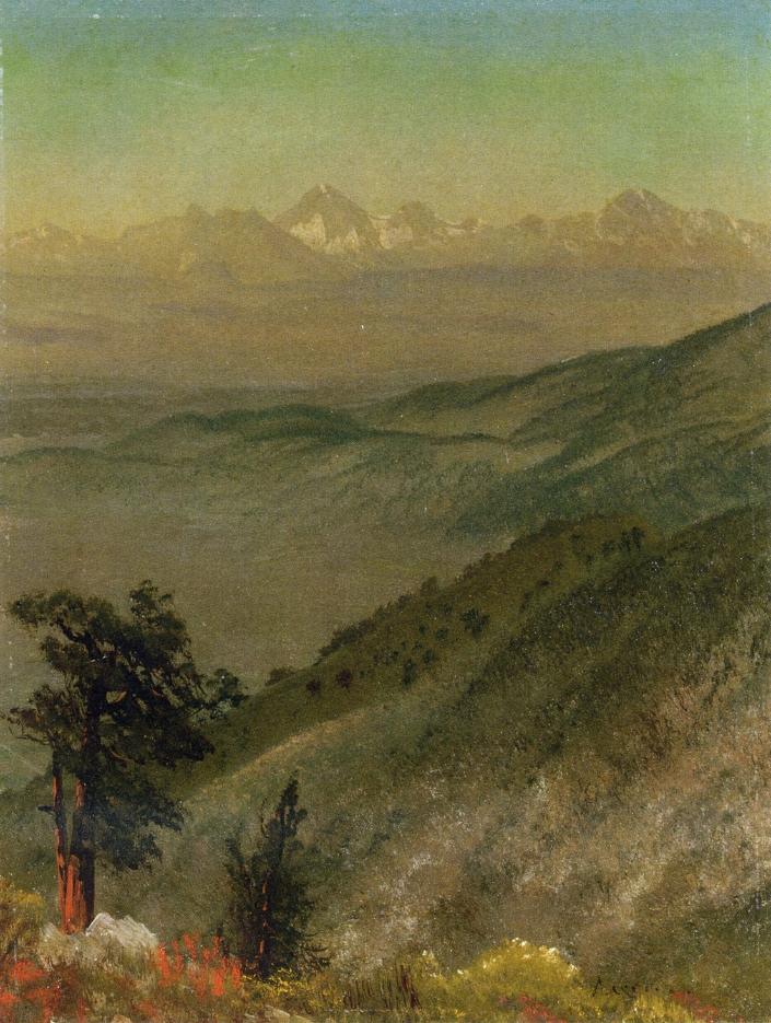 Wasatch Mountains | Albert Bierstadt | oil painting