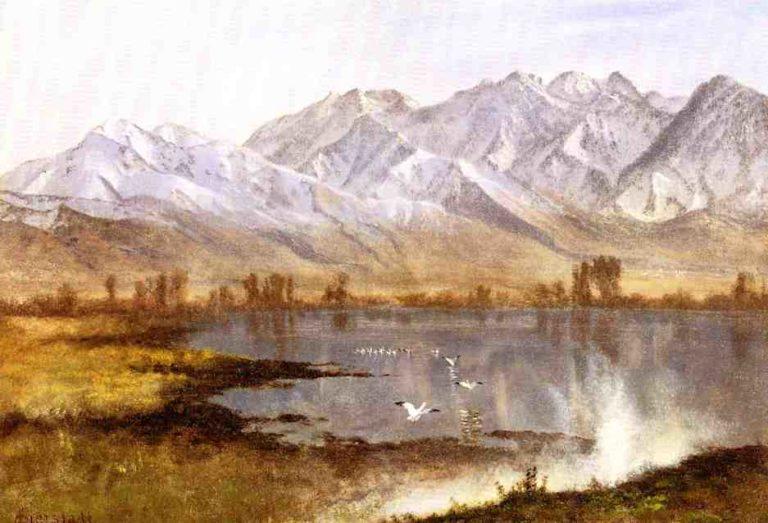 Wassatch Mountains Utah | Albert Bierstadt | oil painting
