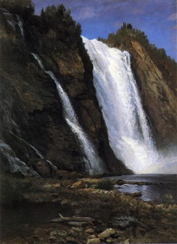 Waterfall | Albert Bierstadt | oil painting