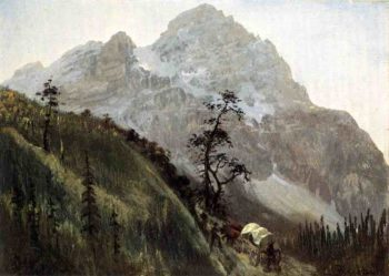 Western Trail the Rockies | Albert Bierstadt | oil painting