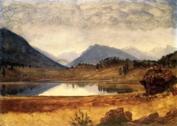 Wind River Country | Albert Bierstadt | oil painting