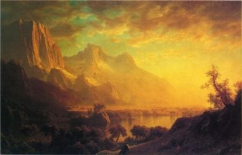 Wind River Wyoming | Albert Bierstadt | oil painting