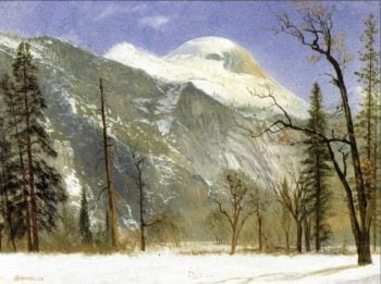 Winter in Yosemite Valley | Albert Bierstadt | oil painting