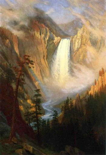 Yellowstone Falls | Albert Bierstadt | oil painting