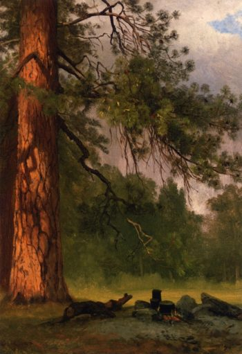 Yosemite Camp Kitchen | Albert Bierstadt | oil painting