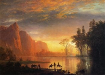 Yosemite Valley Sunset | Albert Bierstadt | oil painting