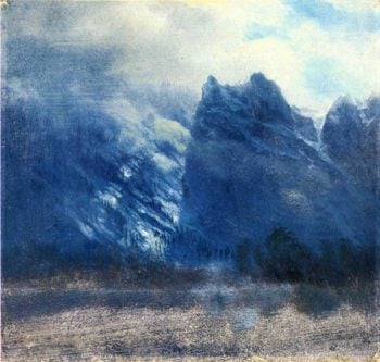 Yosemite Valley Twin Peaks | Albert Bierstadt | oil painting
