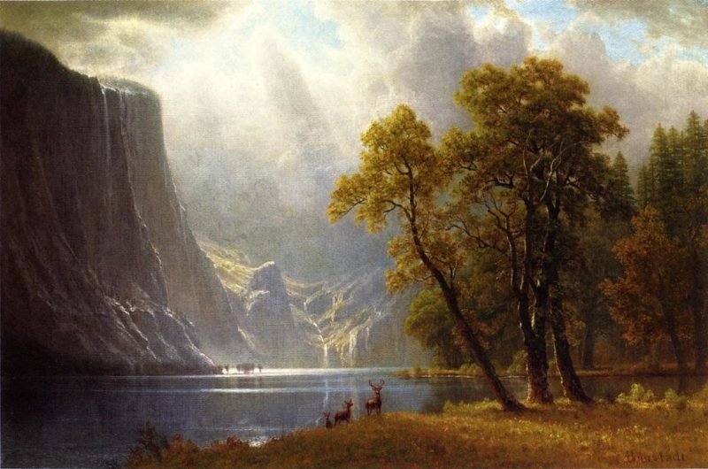 Yosemite Valley   Albert Bierstadt   oil painting