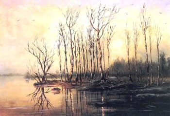 Early Spring Flood | Alexei Kondratevich Savrasov | oil painting
