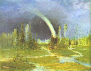 Landscape with a Rainbow | Alexei Kondratevich Savrasov | oil painting
