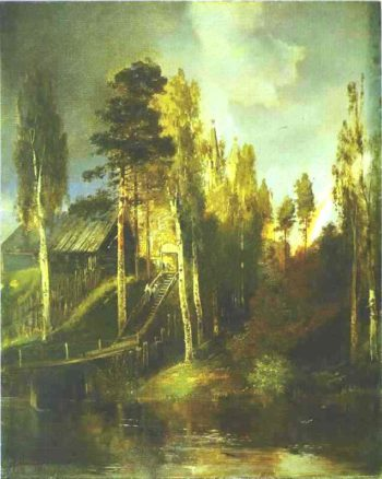 Monastery Gates | Alexei Kondratevich Savrasov | oil painting