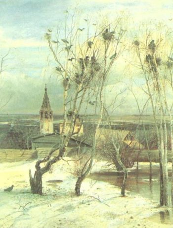 Rooks come flying | Alexei Kondratevich Savrasov | oil painting