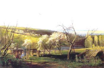 Rustic View | Alexei Kondratevich Savrasov | oil painting