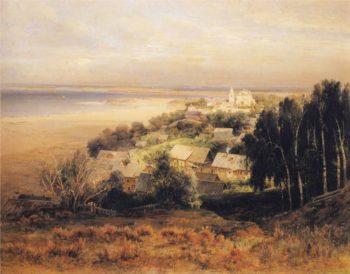 The Pechersk Monastery near Nizhni Novgorod | Alexei Kondratevich Savrasov | oil painting