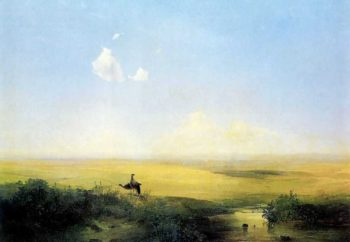 The Steppe in Daytime | Alexei Kondratevich Savrasov | oil painting