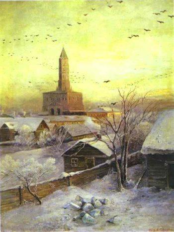 The Sukharev Tower | Alexei Kondratevich Savrasov | oil painting