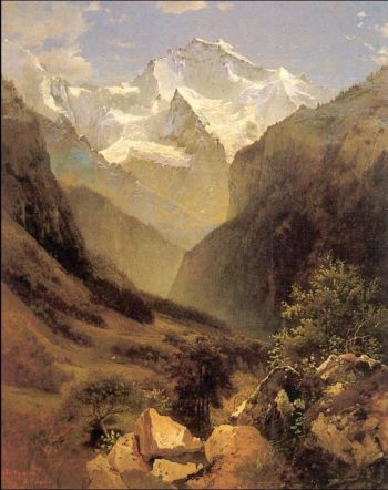 View in Swiss Alps | Alexei Kondratevich Savrasov | oil painting