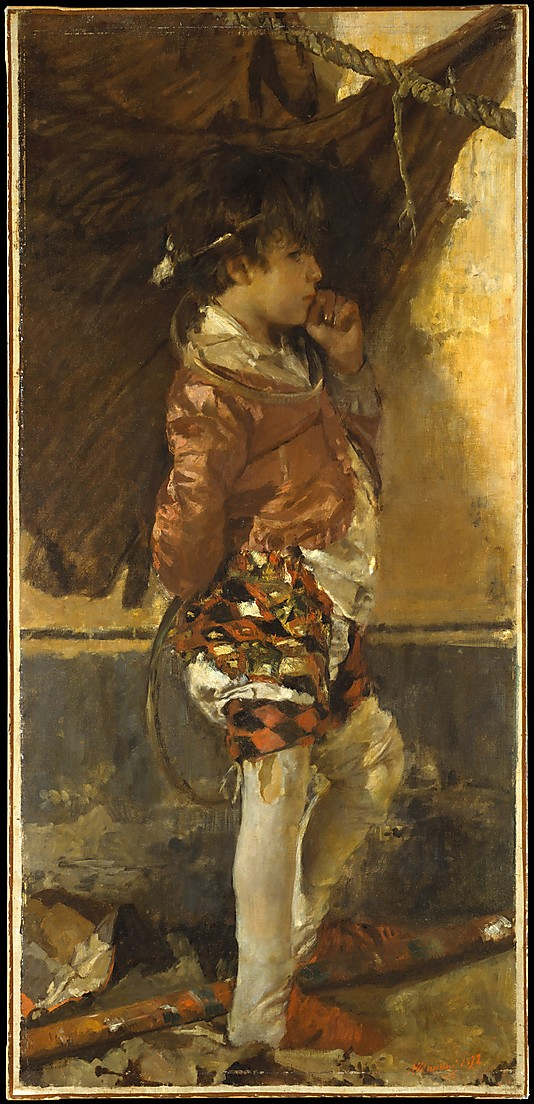 A Circus Boy | Antonio Mancini | oil painting