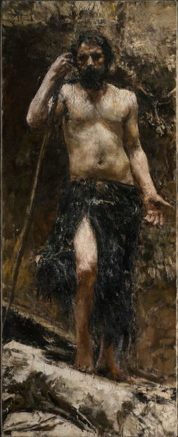 Saint John the Baptist | Antonio Mancini | oil painting