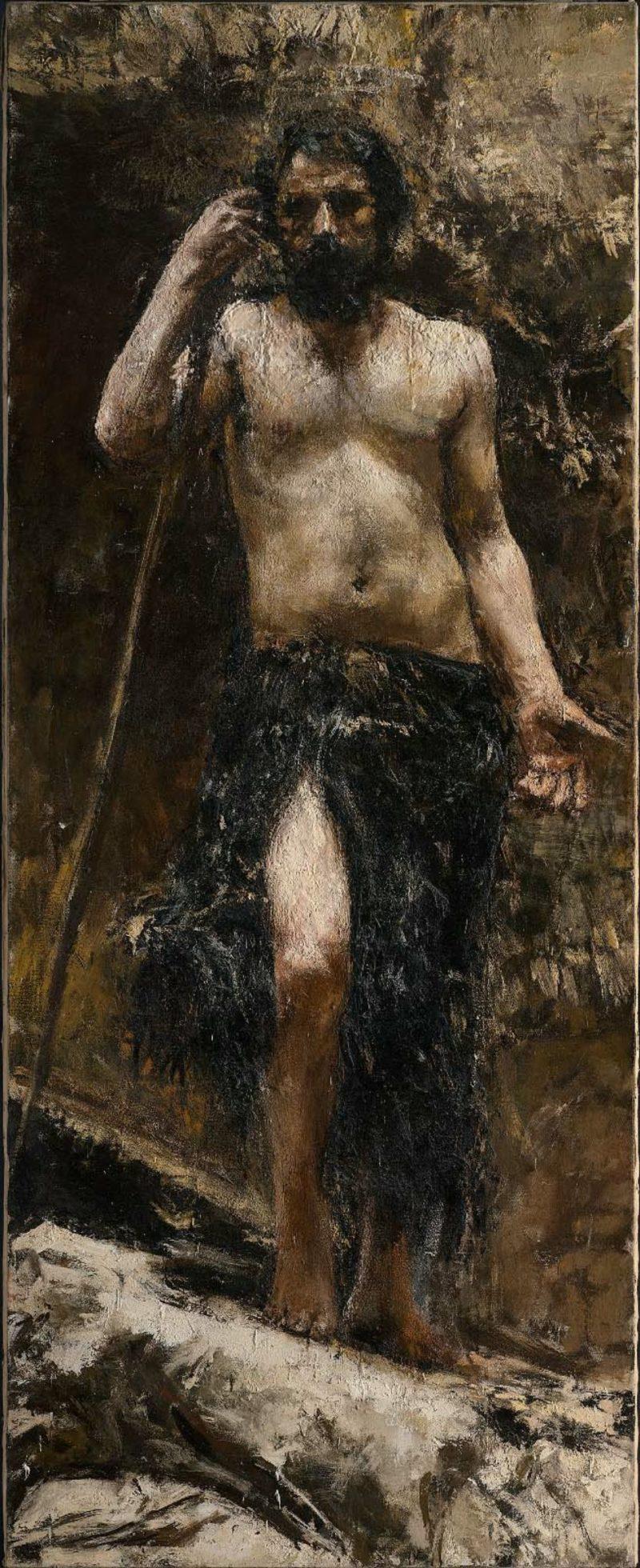 Saint John the Baptist | Antonio Mancini | oil painting