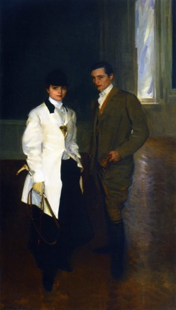 Charles Sumner Bird and His Sister Edith Bird Bass | Cecilia Beaux | oil painting
