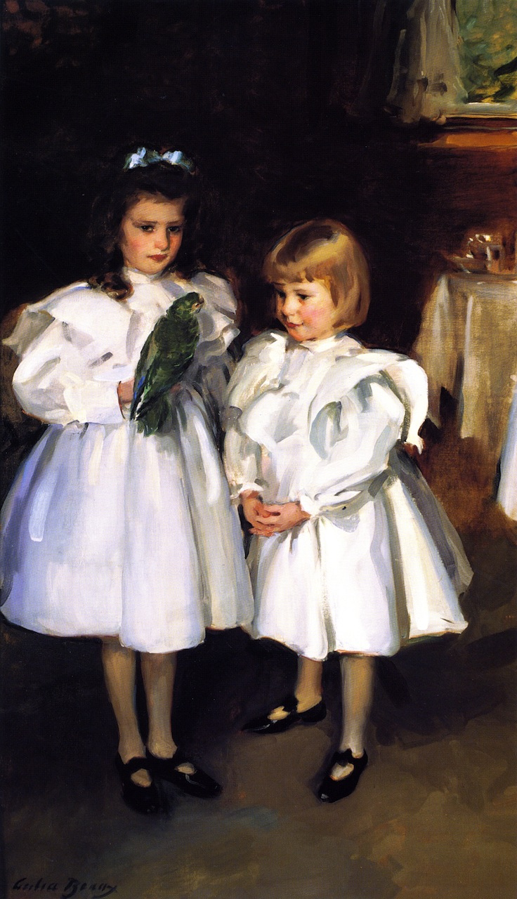 Gertrude and Elizabeth Henry   Cecilia Beaux   oil painting