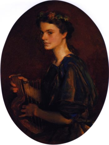 Girl with Lyre | Cecilia Beaux | oil painting