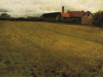 Landscape with Farm Building | Cecilia Beaux | oil painting
