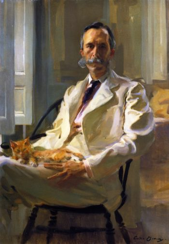 Man with the Cat | Cecilia Beaux | oil painting