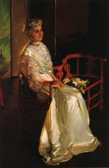Mrs Richard Low Divine Born Susan Sophia Smith   Cecilia Beaux   oil painting