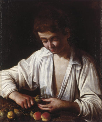 Boy Peeling Fruit | Caravaggio | oil painting