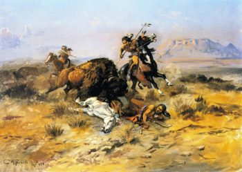 Buffalo Hunt | Charles Marion Russell | oil painting