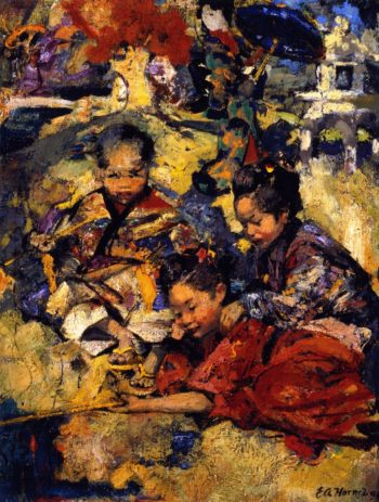 The Fish Pool | Edward Atkinson Hornel | oil painting