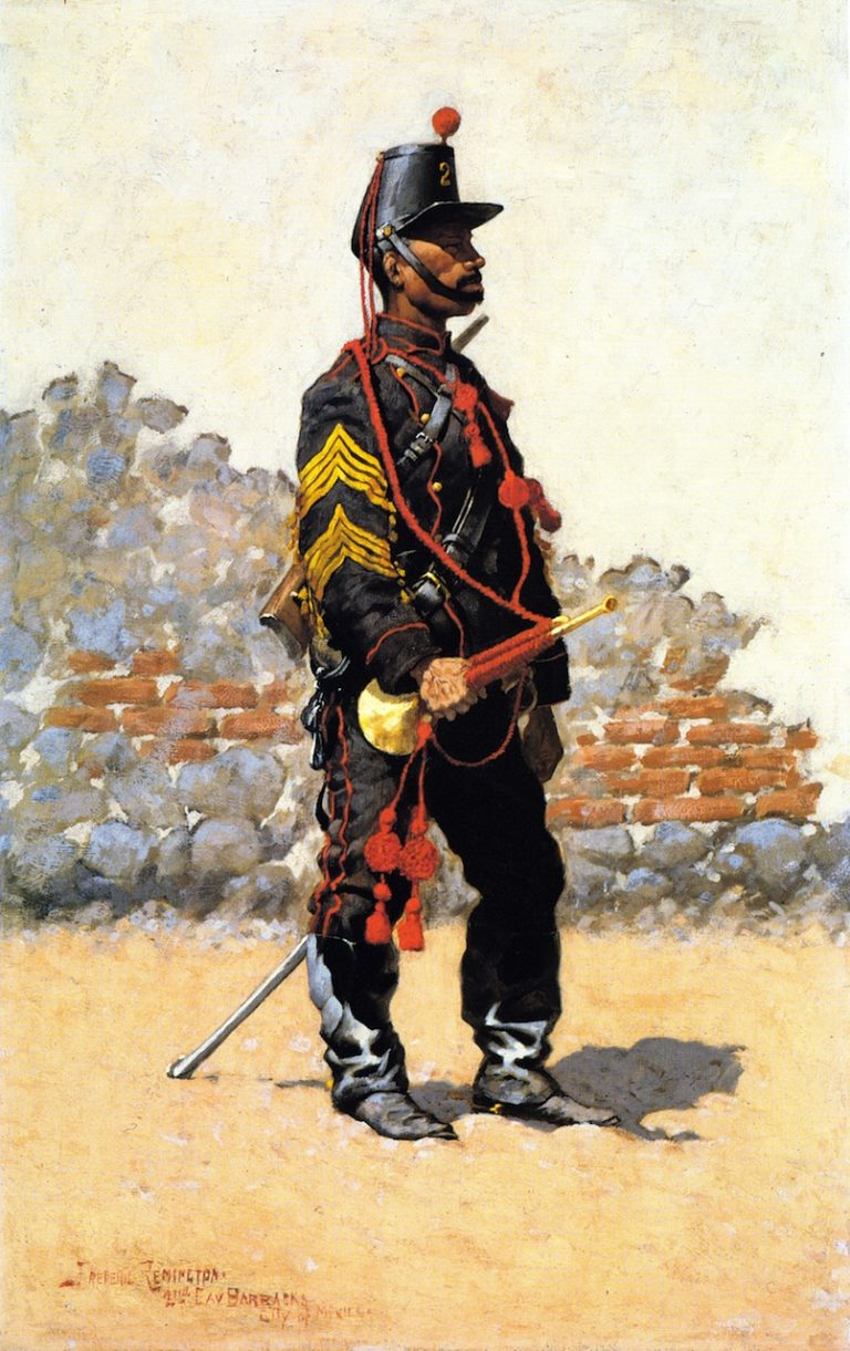 Bugler of Cavalry | Frederic Remington | oil painting