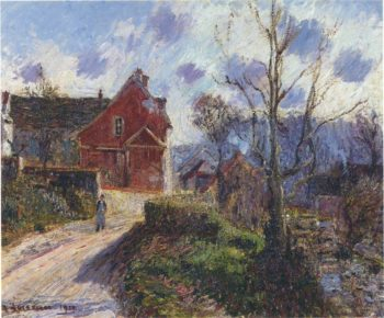 The red painted house | Gustave Loiseau | oil painting