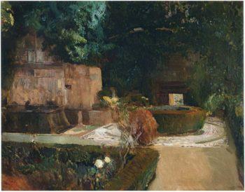 Adarves Garden Alhambra | Joaquin Sorolla y Bastida | oil painting