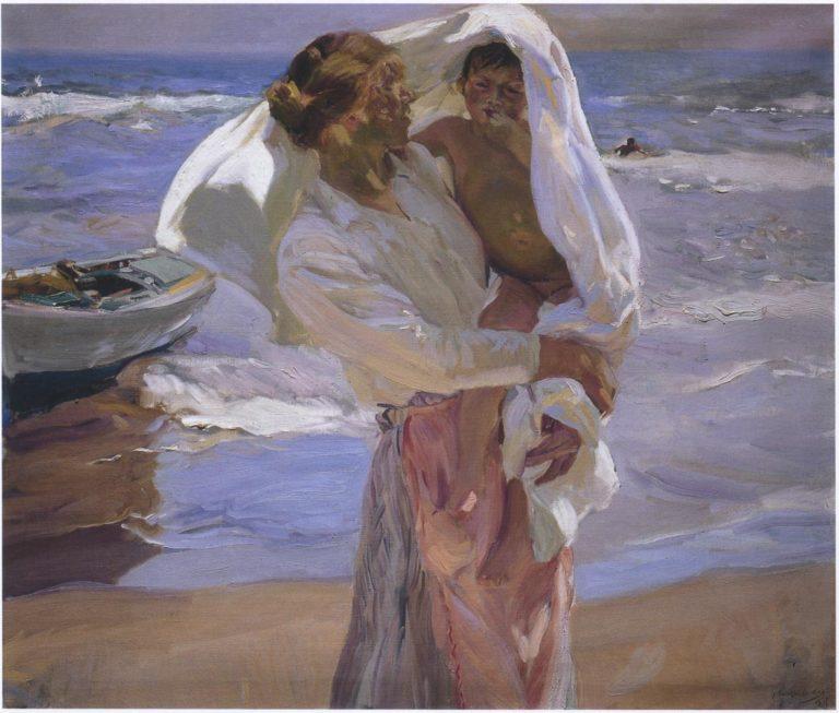 After bathing Valencia | Joaquin Sorolla y Bastida | oil painting