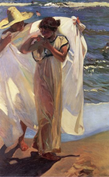 After Bathing | Joaquin Sorolla y Bastida | oil painting