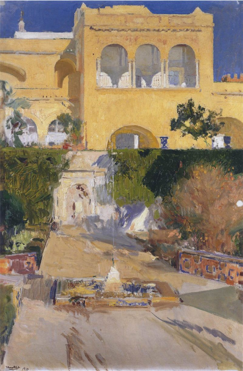 Afternoon sun at the Alcazar at Seville | Joaquin Sorolla y Bastida | oil painting