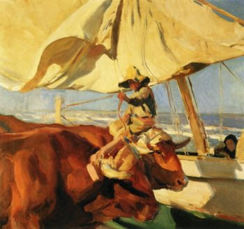 Afternoon Sun Playa de Valencia | Joaquin Sorolla y Bastida | oil painting